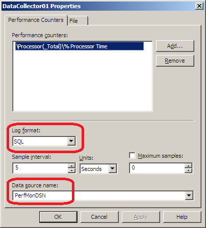 Configure data collector 1