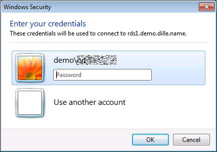 Second Prompt for User Credentials in Remote Desktop