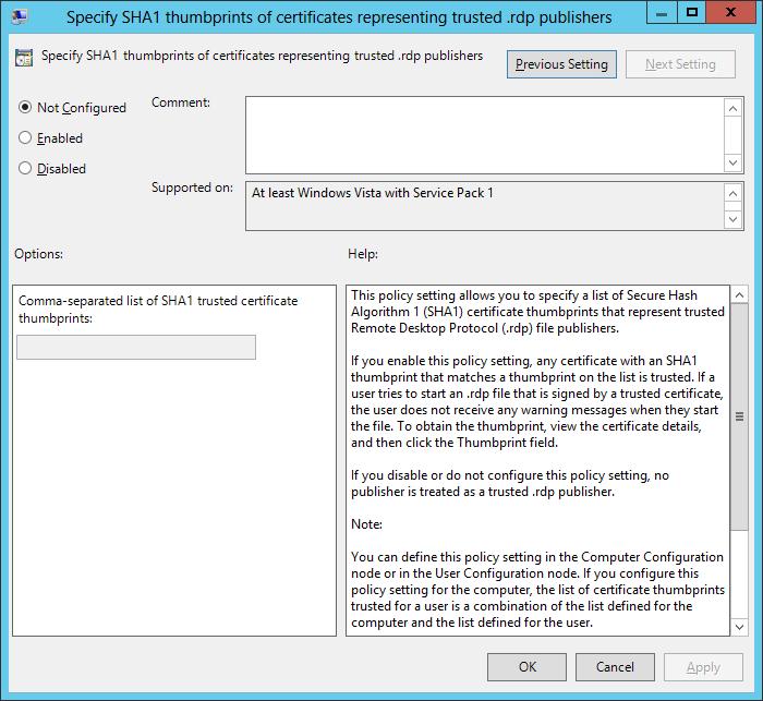 Second Prompt for User Credentials in Remote Desktop Services