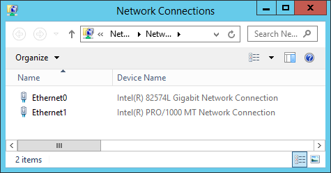 Different network adapters in virtual machine