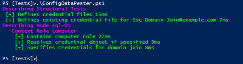 #PSDSC using #Pester to validate configuration data