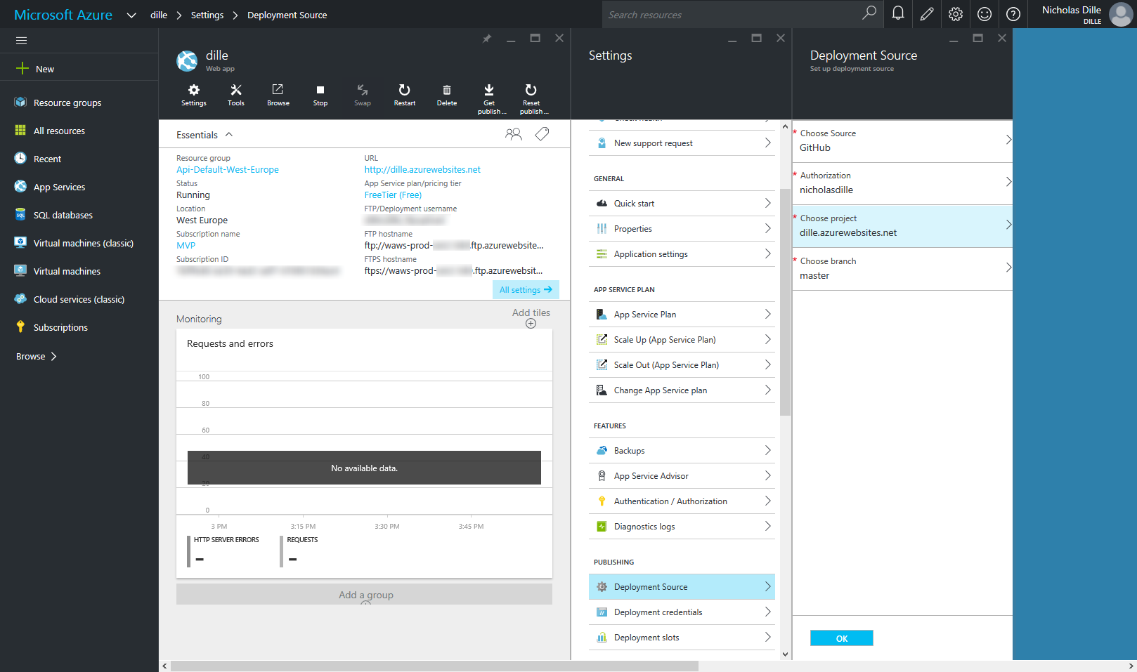 Setup continuous delivery for Azure Website